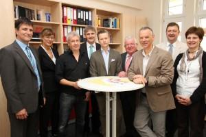 v.l..: Dirk Kolar, Renate Nick, Matthias Hundt, Michael Makiolla, David Hofmann, Wilfried Bartmann, Gerd Klöpper, Josef Mehrfels und Ulrike Schmidt.